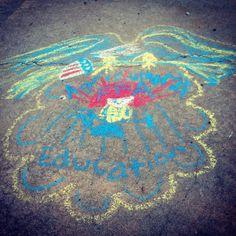 The FFA emblem I made out of chalk!!!!! I love FFA!!!!
