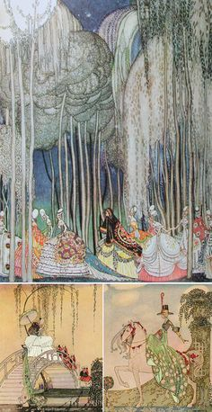 Kay Nielsen was born in Denmark and studied art in Paris. Art And Illustration, Botanical Illustration, Art Nouveau, Art Deco, Fantasy Kunst, Fantasy Art, French Fairy Tales, Drawn Art, Chinese Art