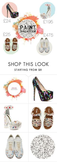 """Shoe hard to choose"" by olive-seidler ❤ liked on Polyvore featuring Kat Maconie, TOMS, Maison Margiela, Tisch New York and paintsplatter"