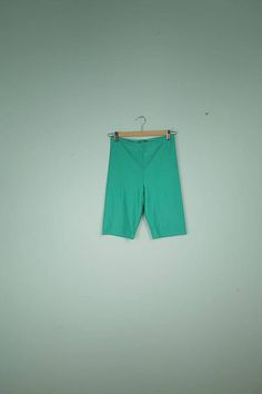 e8d9aa5880e lycra shorts size 40 turquoise vintage shorts colorful pants Turquoise  Shorts
