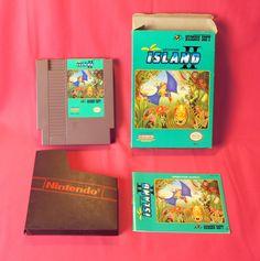ADVENTURE ISLAND II 2 NES GAME Nintendo CIB complete Box Manual Ex. Cond