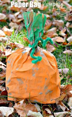 Easy and Fun Paper Bag Pumpkin Craft for Kids to Make Easy and Fun Paper Bag Pumpkin Craft for Kids to Make – DIY Perfect for preschool or elementary school fall and Halloween crafts – www. Fall Preschool Activities, Preschool Crafts, Fun Crafts, Quick Crafts, Paper Crafts, Pumpkin Crafts Kids, Thanksgiving Crafts, Thanksgiving Activities, Holiday Activities