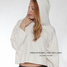 Made in Los Angeles by All Pima Apparel Private Label, Cropped Hoodie, Pantone Color, French Terry, Boho Chic, Trending Outfits, Style Inspiration, Fashion Outfits, Hoodies