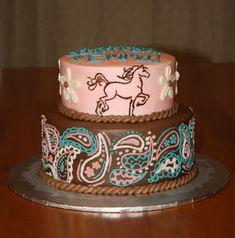 Western Birthday Horse Cake for Journee Western Birthday Cakes, Western Cakes, Horse Birthday Parties, 21st Birthday, Birthday Ideas, Birthday Stuff, Cowgirl Cakes, Cowgirl Party, Horse Party