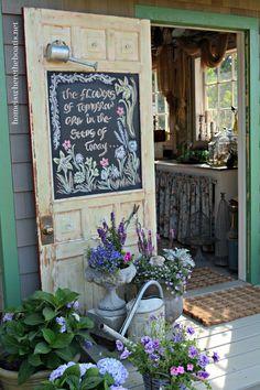 A Garden Metaphor for Life & Chalkboard Inspiration | homeiswheretheboatis.net #pottingshed #chalkboard