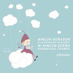 Ningún soñador es demasiado pequeño ni ningún sueño demasiado grande #frasedeldia #motivacion