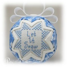 Snowman Ornament Quilted Ornament Winter Themed Ornament