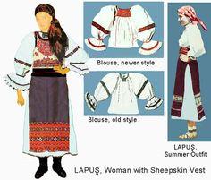 Lapus Romania Folk Natioanl Ethnic Popular Costumes Folk Embroidery, Learn Embroidery, Modern Embroidery, Embroidery Stitches, Embroidery Patterns, Popular Costumes, Antique Quilts, Folk Costume, Summer Outfits Women