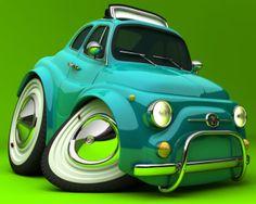 Fiat Abarth 500 Caricature