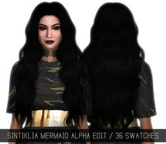 Sims 4 Updates: Simpliciaty - Hairstyles : SINTIKLIA MERMAID ALPHA EDIT, Custom Content Download!