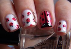 Ladybug Nails! Now these would be adorable, and especially on a little girl :)