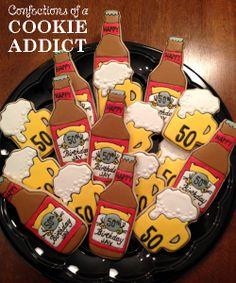 50th Birthday Beer Cookies
