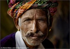 By Alberto Mateo, Travel Photographer. Rajastani Man, Pushkar Camel Fair, Rasjatan, India. Original Lambda Print 20x30cm, $120.