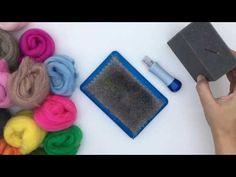 COMO HACER Y BORDAR FIELTRO CON AGUJA - YouTube Textiles, Needle Felting, Elsa, Nuno, Crochet, Youtube, Feltro, Felted Wool, Ornaments