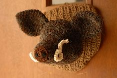 Boar's head pattern - crochet