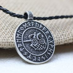Nordic Viking Sleipnir And Solider Talisman Amulet Necklace