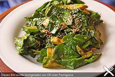 Spinat - Avocado - Gurken - Salat mit Wasabi - Dressing (Rezept mit Bild) | Chefkoch.de