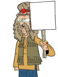 Hippie Caricature