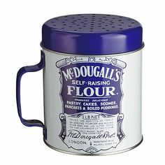 McDougall's Vintage Blue and White Flour Shaker - From Lakeland
