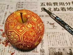 """Food Carving -Playing with your food isn't always a bad thing. A Japanese artist, who goes by the name Gaku on Instagram, has raised it to an art form, carving intensely intricate patterns into everyday fruits and vegetables.  Gaku, who began posting his work on Instagram about 8 months ago, practices the traditional Japanese art of mukimono, which literally means """"stripped product"""". It became a popular form of food presentation during the 16th century in Japan, and spread to Thailand..."""