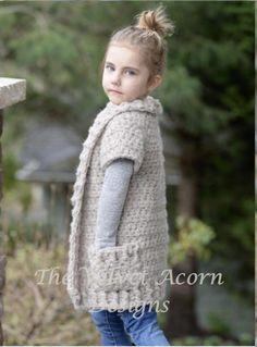 Crochet PATTERN-The Tyla Sweater 2/3 4/6 7/9 10/12 14/16