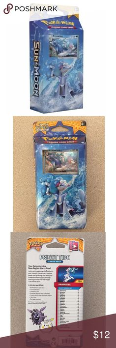 Pokemon TCG Card Game Sun and Moon Theme Deck Pokemon TCG Card Game Sun and Moon Theme Deck - Bright Tide - Primarina   Brand new and sealed Pokemon Other