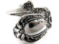 Wrapped Spoon Ring Size 5 - 8 Demitasse Heritage 1953