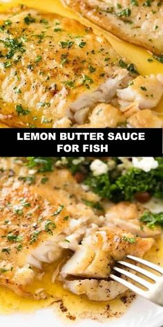 The World's Most Deliciou Lemon Butter Sauce for Fish A Lemon Butter Sauce with Crispy Pan Fried Fish that would be perfectly at home in a posh restaurant, yet is so quick to make at home! Browning th Fresh Fish Recipes, Cod Fish Recipes, Salmon Recipes, Seafood Recipes, Cooking Recipes, Healthy Recipes, Baked Halibut Recipes, Pan Fried Haddock Recipes, Drink Recipes