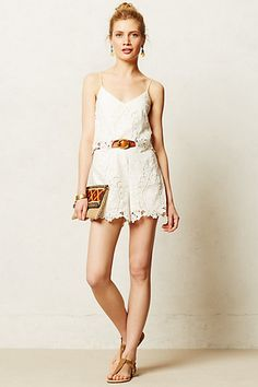 Tiered Lace Romper #anthropologie
