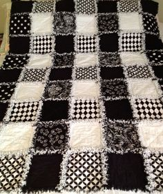 One of the most popular rag quilts that I make is the Bold Graphic Black and White Rag Quilt. I'm not sure why I get so many views of this ...