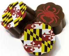 Maryland Pride Flag & Crab Old Bay® Vanilla Sea Salt Caramel Chocolates - 2…