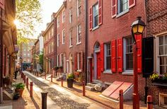 Philadelphia's Old City. I walked around here last time I visited Philly. Gorgeous! #PA #travel