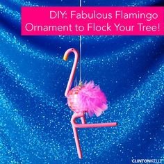 Add a little FABULOUS to your tree this year with this DIY Flamingo Ornament!