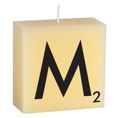 'M' Candle by Cerabella #Candle #Alphabet_Letters