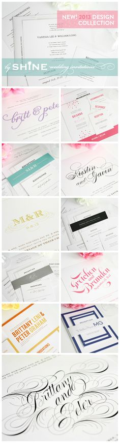 Wedding Invitations Ideas - New 2013 collection from Shine Wedding Invitations!