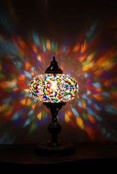 Turkish delight lamp - handmade - great colour projection