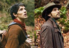 merthur is everything Merlin Series, Merlin Cast, Simon Amstell, James Righton, Robin Hood Bbc, Laura Donnelly, Merlin Fandom, Merlin Colin Morgan, Merlin And Arthur