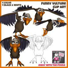 Funny Vulture Clip Art Images$