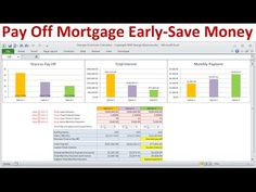 Pay Off Mortgage Early and Save Money on Interest: Calculate savings. Pay down mortgage to become debt free. Extra principal payments. Mortgage prepayment to save money.