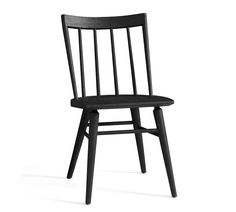 The Shay Dining Chair is our new, improved and scaled-down version of the classic Windsor chair, a design that can be traced back to the in England, where the seat crafted with slender, turned spindles and a sculpted wooden seat originated. Black Dining Chairs, Leather Dining Chairs, Windsor Dining Chairs, Black Metal Dining Chairs, Farmhouse Dining Chairs, Furniture Slipcovers, Dining Chair Slipcovers, Cabin Furniture, Outdoor Furniture