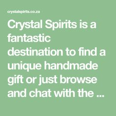 Crystal Spirits is a fantastic destination to find a unique handmade gift or just browse and chat with the ever dynamic and passionate staff. Oracle Cards, Incense, Dream Catcher, Spirit, Passion, Crystals, Unique, Handmade Gifts, Kid Craft Gifts