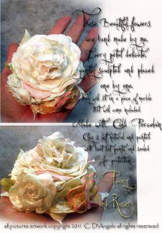 cold porcelain rose