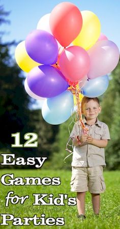 Looking for some easy party games for your child's next birthday? Here are 12 popular party games that can be changed to match just about any party theme.
