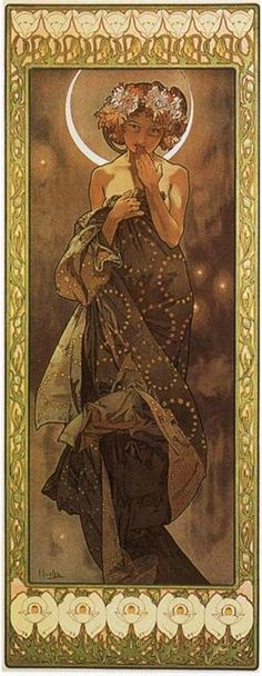 The Moon, by Alfons Mucha (1860–1939)