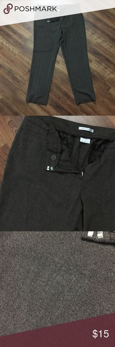 Brown Tweed-like Pant Trouser Van Heiden Studio Stretch Extensible pants, trousers. Gently worn. Small coin pockets in front, no functional pockets on back. Zipper, button and two clip fasten. Van Heusen Pants Trousers