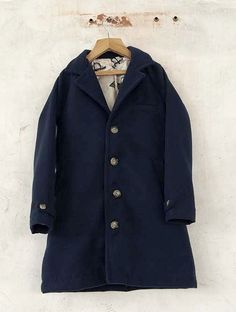 BOBO CHOSES ° Coat Flannel print lining navy