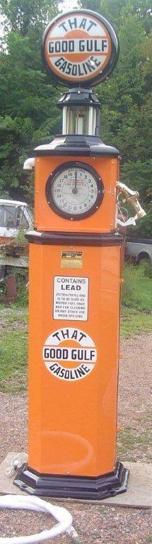 Rare Gulf Gas Pump I restored