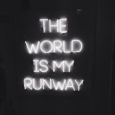 The world is my runway #life #world #fashion