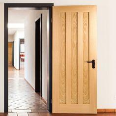 Door Set Kit, Idaho Oak 3 Panelled Door - Prefinished. #moderndoor #oakdoor #internaloakdoor