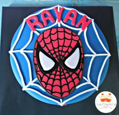 Spiderman Face Cake by Wish I Had A Cake
